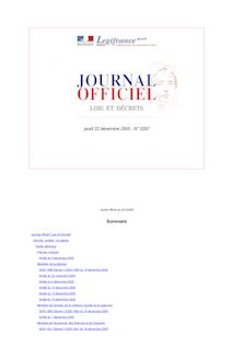 Journal officiel n°297 du 22 décembre 2005