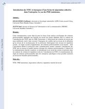 Introduction des NTIC et émergence d'une forme de négociation collective dans l'entreprise : le cas des PME tunisiennes