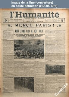 L' HUMANITE  numéro 2010 du 18 octobre 1909