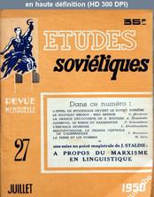 ETUDES SOVIETIQUES numéro 27 du 01 juillet 1950