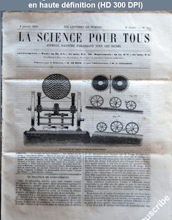 LA SCIENCE POUR TOUS  numéro 5 du 06 janvier 1859