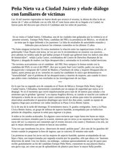 Peña Nieto va a Ciudad Juárez y elude diálogo con familiares de víctimas