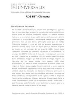 ROSSET (Clément)