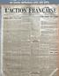 L' ACTION FRANCAISE  numéro 119 du 29 avril 1918
