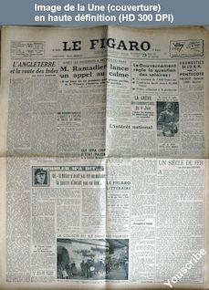 LE FIGARO  numéro 837 du 23 mai 1947