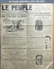 LE PEUPLE  numéro 1038 du 10 novembre 1923
