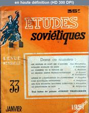 ETUDES SOVIETIQUES numéro 33 du 01 janvier 1951
