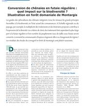 Conversion de chênaies en futaie régulière : quel impact sur la biodiversité ? Illustration en forêt domaniale de Montargis