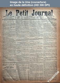 LE PETIT JOURNAL  numéro 7143 du 17 juillet 1882