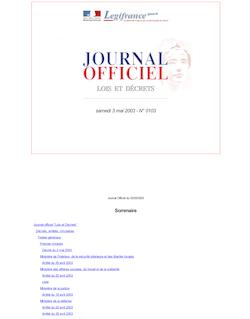 JORF n°103 du 3 mai 2003