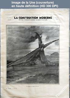 LA CONSTRUCTION MODERNE  numéro 33 du 15 mai 1932