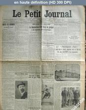 LE PETIT JOURNAL  numéro 16669 du 16 août 1908