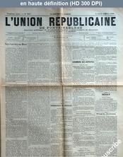 L' UNION REPUBLICAINE DE FONTAINEBLEAU  numéro 1935 du 20 mars 1896