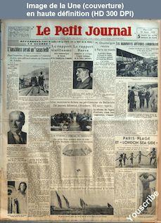 LE PETIT JOURNAL  numéro 26158 du 29 août 1934