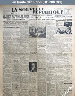 LA NOUVELLE REPUBLIQUE  numéro 1005 du 08 décembre 1947