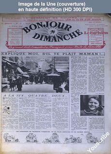 BONJOUR DIMANCHE numéro 21 P du 02 mars 1947