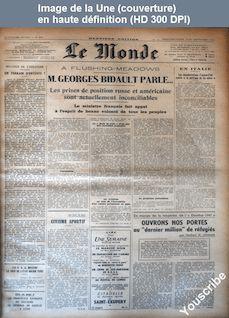 LE MONDE   numéro 824 du 21 septembre 1947
