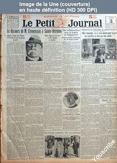 LE PETIT JOURNAL  numéro 21445 du 03 octobre 1921