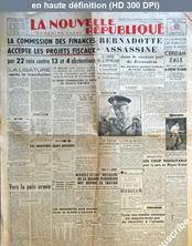 LA NOUVELLE REPUBLIQUE  numéro 1240 du 18 septembre 1948
