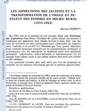 Les aspirations des jacistes et la transformation de l'image et du statut des femmes en milieu rural (1933-1962)