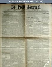 LE PETIT JOURNAL  numéro 13588 du 10 mars 1900
