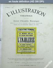 LA PETITE ILLUSTRATION THEATRE  numéro 223 du 09 novembre 1912