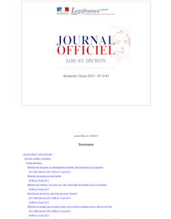 Journal officiel n°0141 du 19 juin 2011