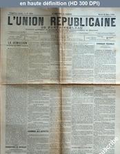 L' UNION REPUBLICAINE DE FONTAINEBLEAU  numéro 1938 du 31 mars 1896