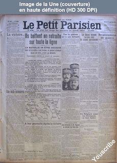 LE PETIT PARISIEN  numéro 13833 du 13 septembre 1914