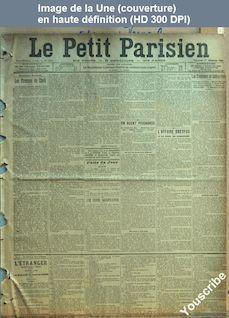 LE PETIT PARISIEN  numéro 9921 du 27 décembre 1903