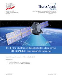 Prédiction et diffusion d'éphémérides { long terme GPS et ...