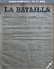 LA BATAILLE  numéro 75 du 02 février 1891