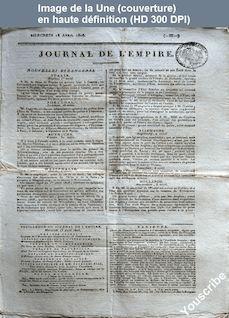 JOURNAL DE L'EMPIRE du 13 avril 1808