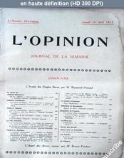 L' OPINION  du 19 avril 1913