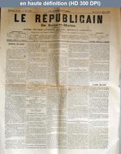 LE REPUBLICAIN DE SEINE ET MARNE  numéro 1086 du 21 mars 1883