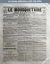 LE MOUSQUETAIRE  numéro 321 du 12 octobre 1854