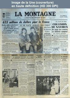 LA MONTAGNE  numéro 12215 du 31 janvier 1958