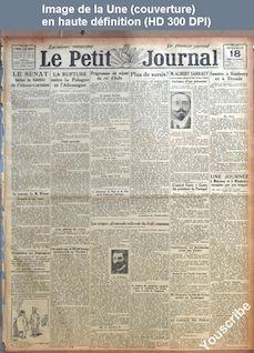 LE PETIT JOURNAL  numéro 20445 du 18 décembre 1918