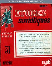 ETUDES SOVIETIQUES numéro 31 du 01 novembre 1950