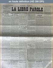 LA LIBRE PAROLE  numéro 11339 du 04 décembre 1923