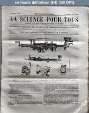 LA SCIENCE POUR TOUS  numéro 39 du 25 août 1864