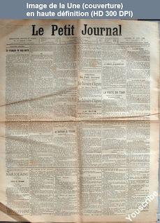 LE PETIT JOURNAL  numéro 14119 du 23 août 1901