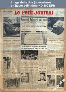 LE PETIT JOURNAL  numéro 26206 du 16 octobre 1934