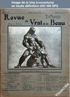 REVUE DU VRAI ET DU BEAU numéro 63 du 10 juillet 1925