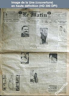LE MATIN  numéro 15424 du 12 juin 1926