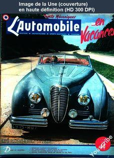 L' AUTOMOBILE  numéro 38 du 01 juin 1949