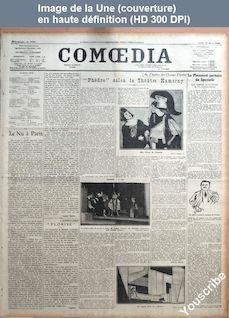 COMOEDIA numéro 3738 du 12 mars 1923