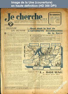 JE CHERCHE numéro 6 du 13 janvier 1945