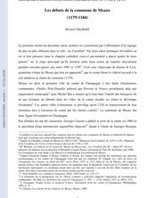Les débuts de la commune de Meaux (1179-1184)