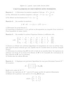 Algebre L partiel duree 1h30 Octobre